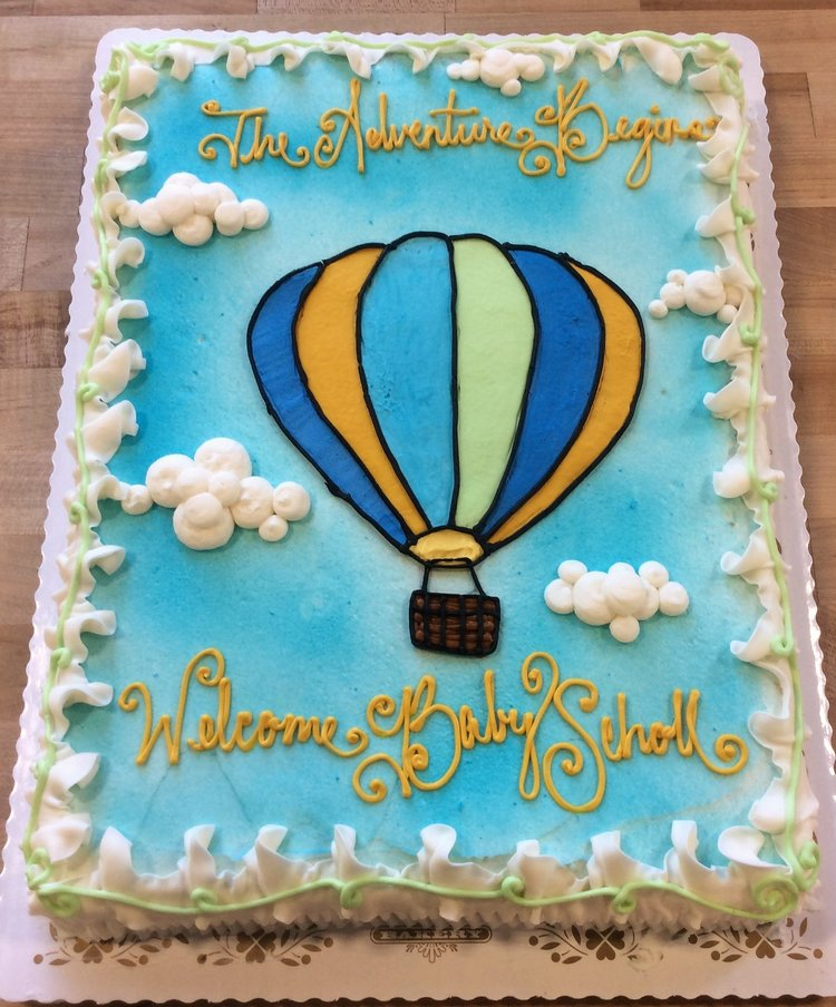 Hot Air Balloon Decorated Cake