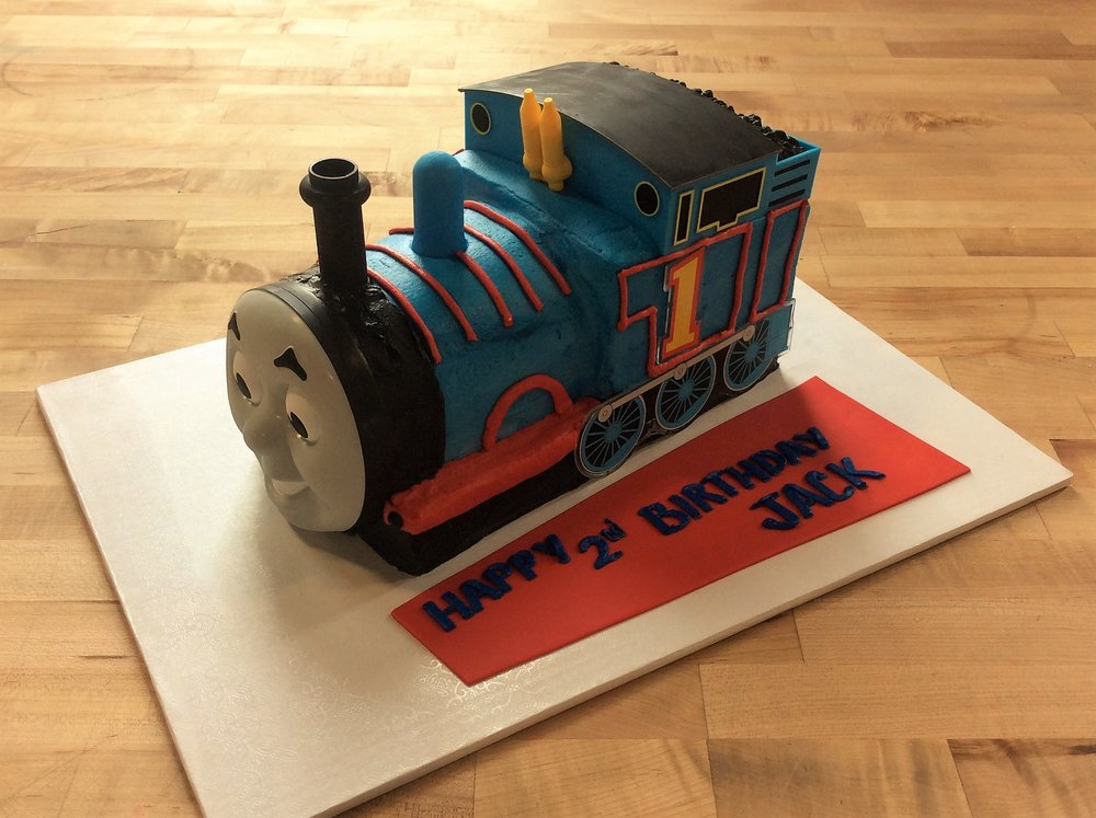 Thomas the Train Shaped Cake