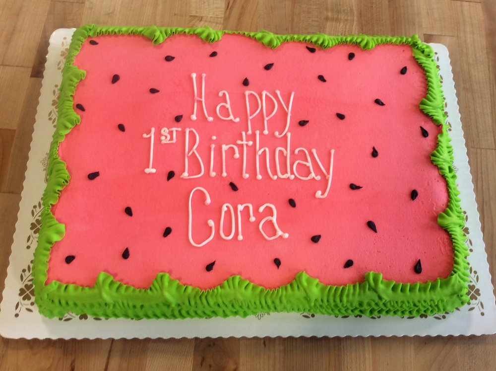 Watermelon Sheet Cake