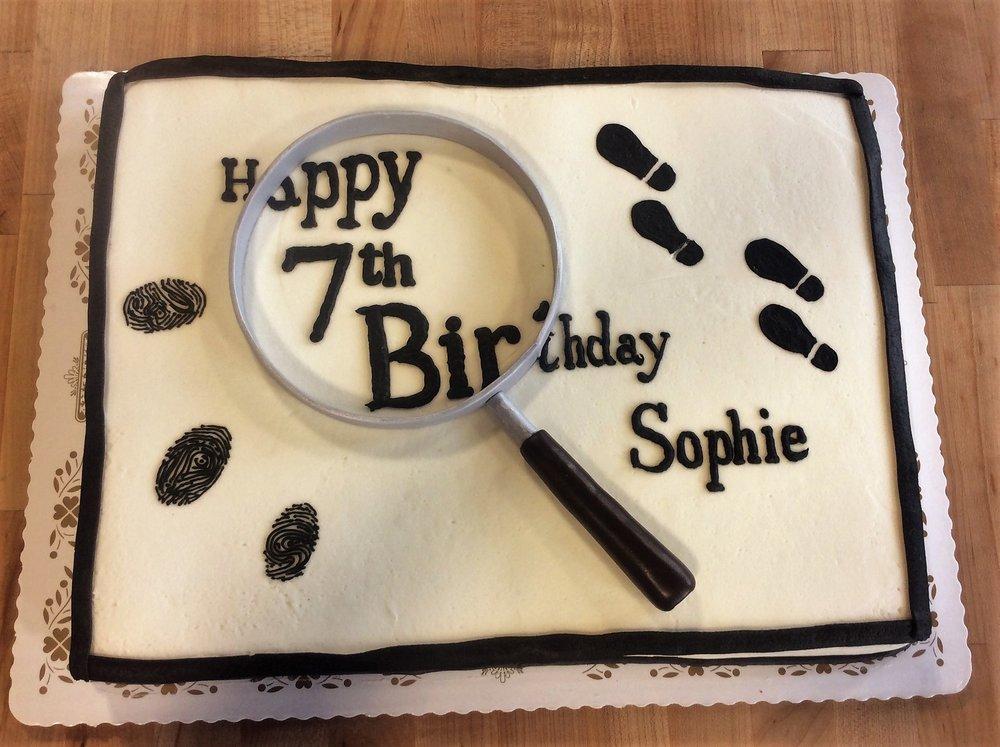 Detective Sheet Cake