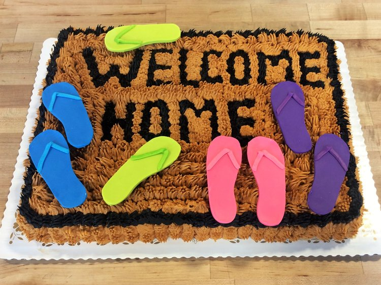 Welcome Home Sheet Cake