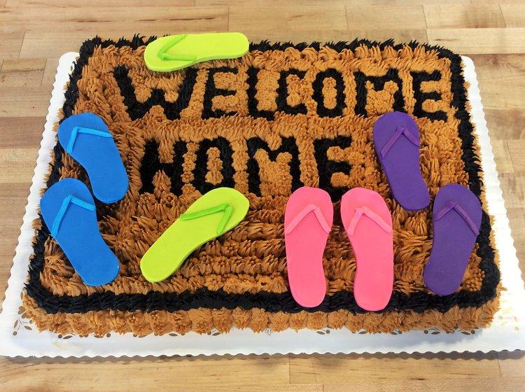 Welcome Home Sheet Cake