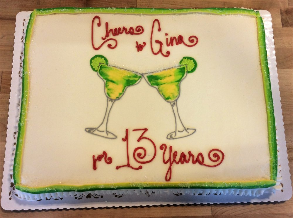Cheers Cake with Margarita Glasses