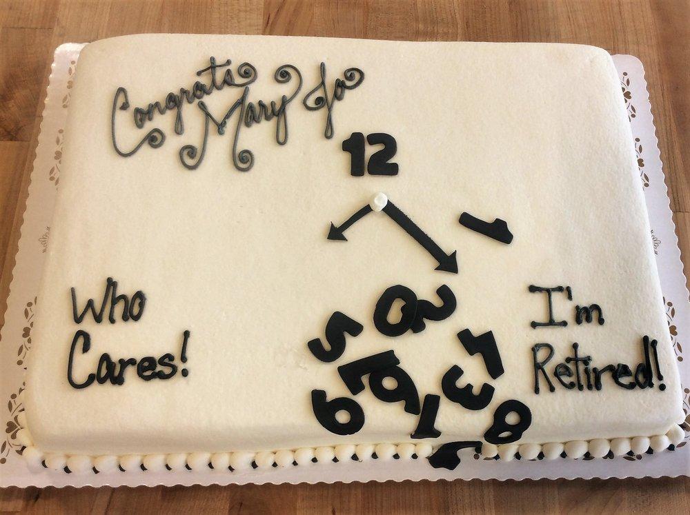 Spilled Clock Retirement Sheet Cake