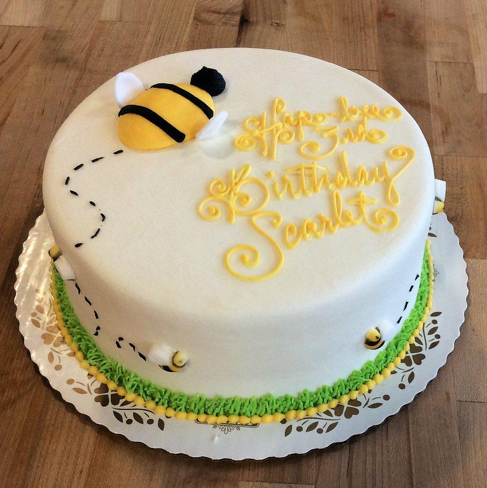 Hap Bee Birthday Cake