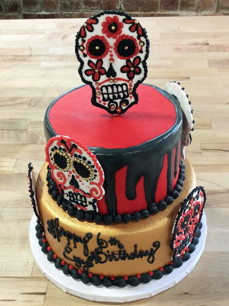 Day Of The Dead Birthday Party Cake Trefzgers Bakery