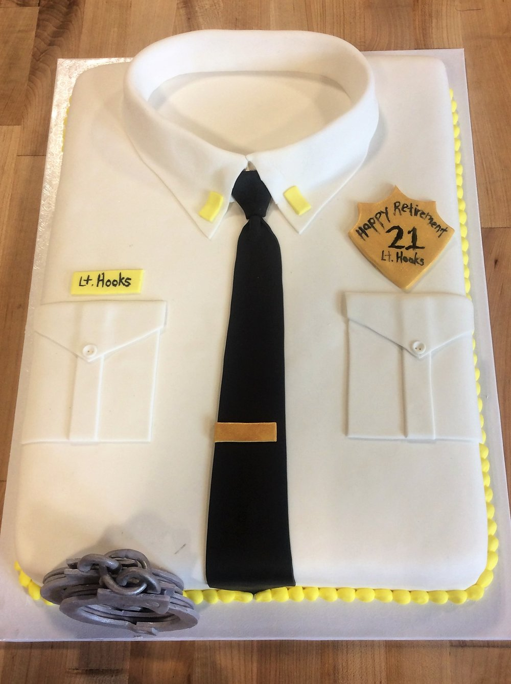 Police Uniform Shirt Cake