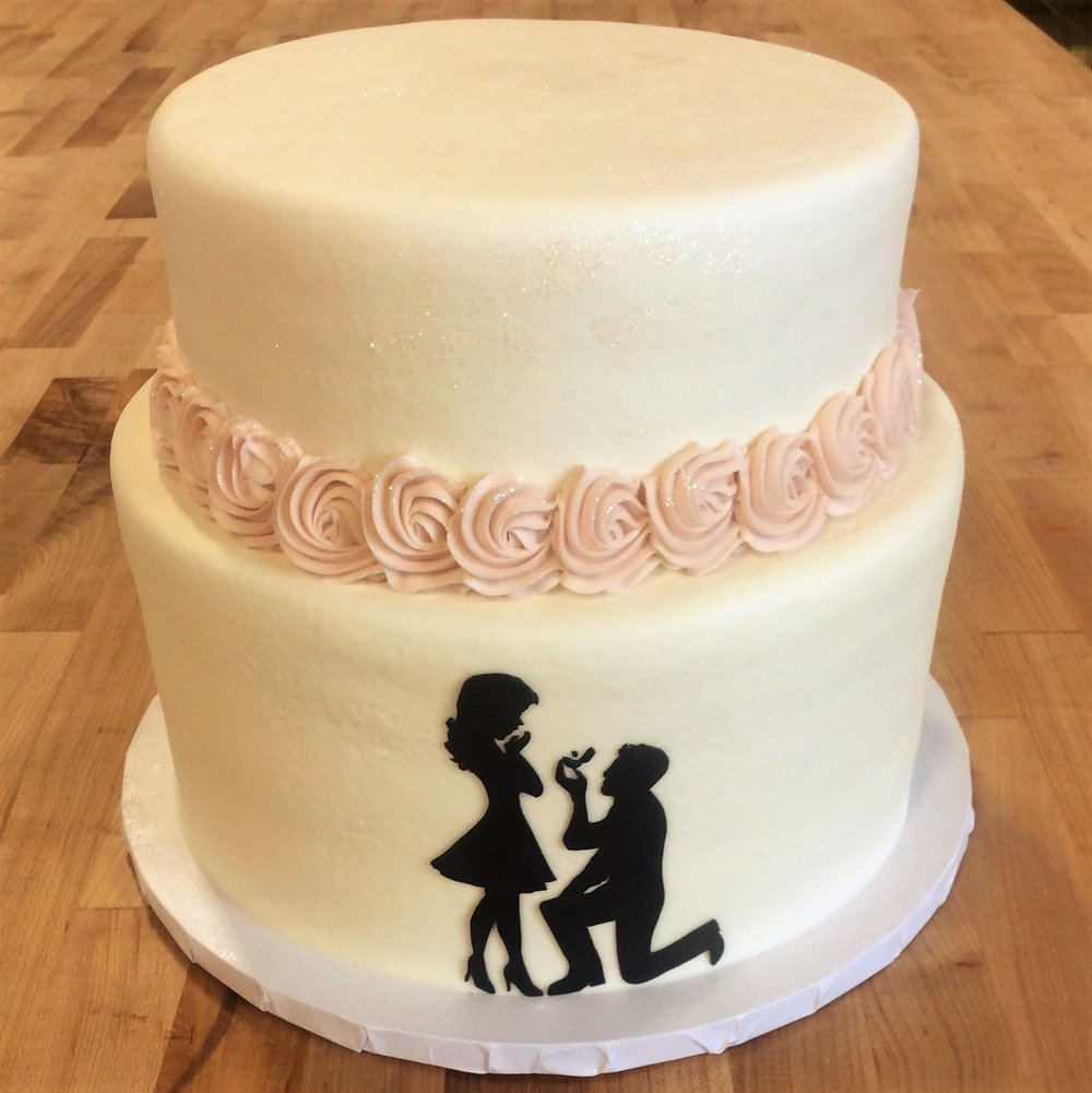 Two Tiered Engagement Party Cake
