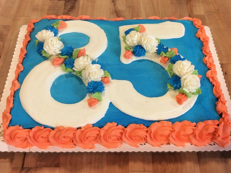 85th Birthday Cake Trefzgers Bakery