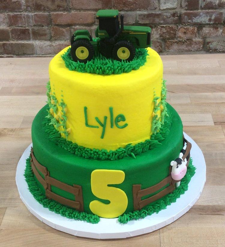 John Deere Tractor Party Cake — Trefzger\'s Bakery