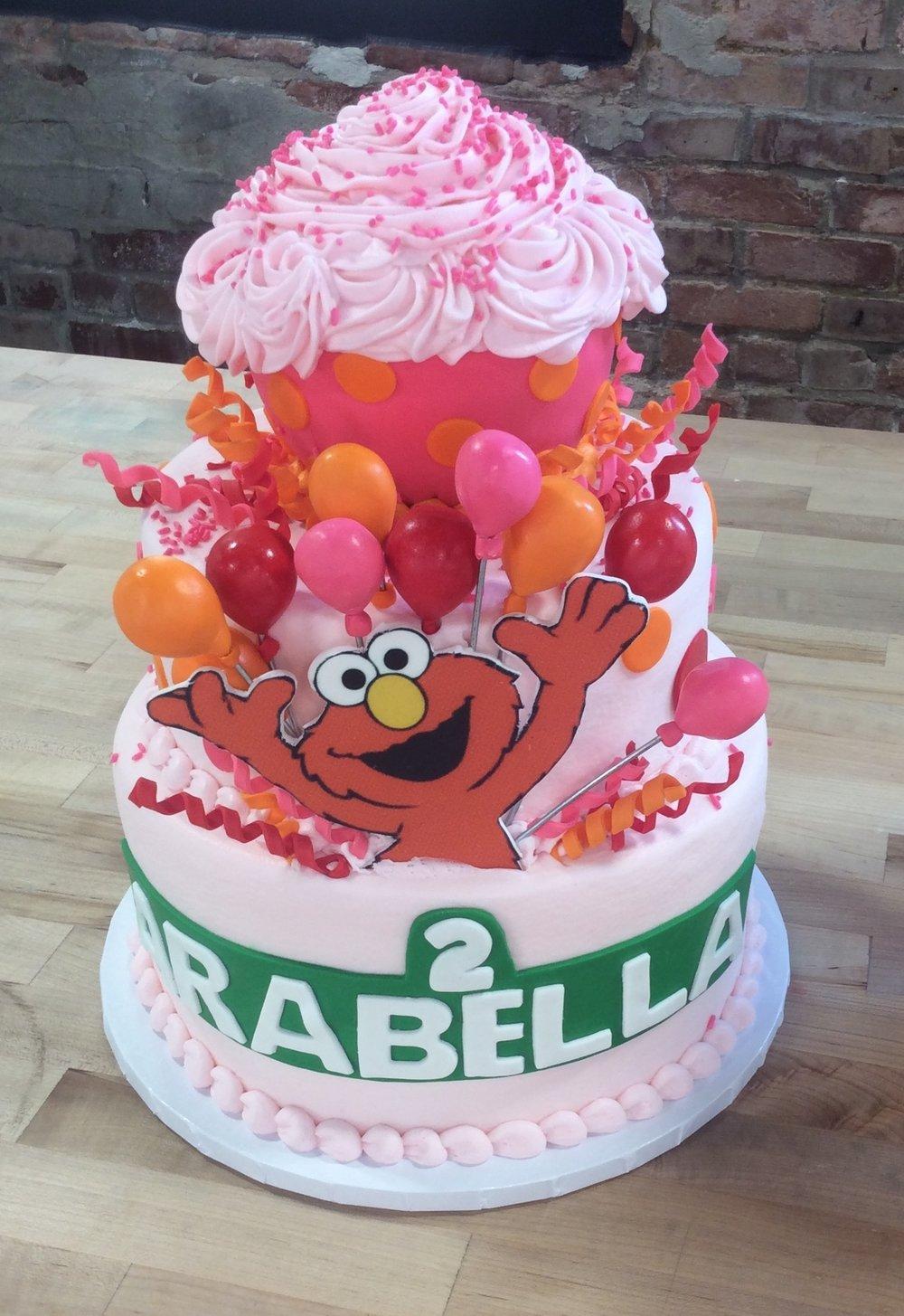 Sesame Street Elmo Party Cake