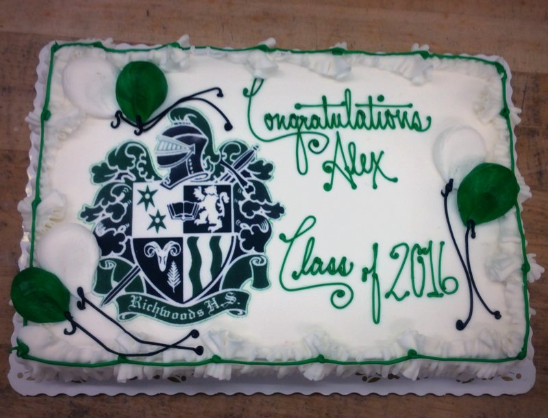 Graduation Sheet Cake with Photoscan