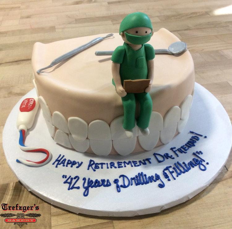 Specialty Dentist Retirement Cake Trefzgers Bakery