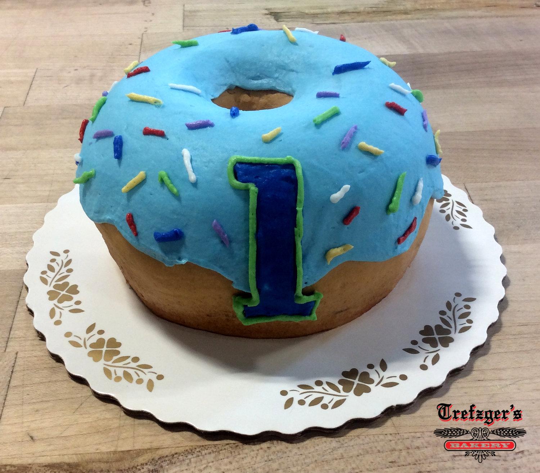 Donut Decorated Smash Cake Trefzgers Bakery
