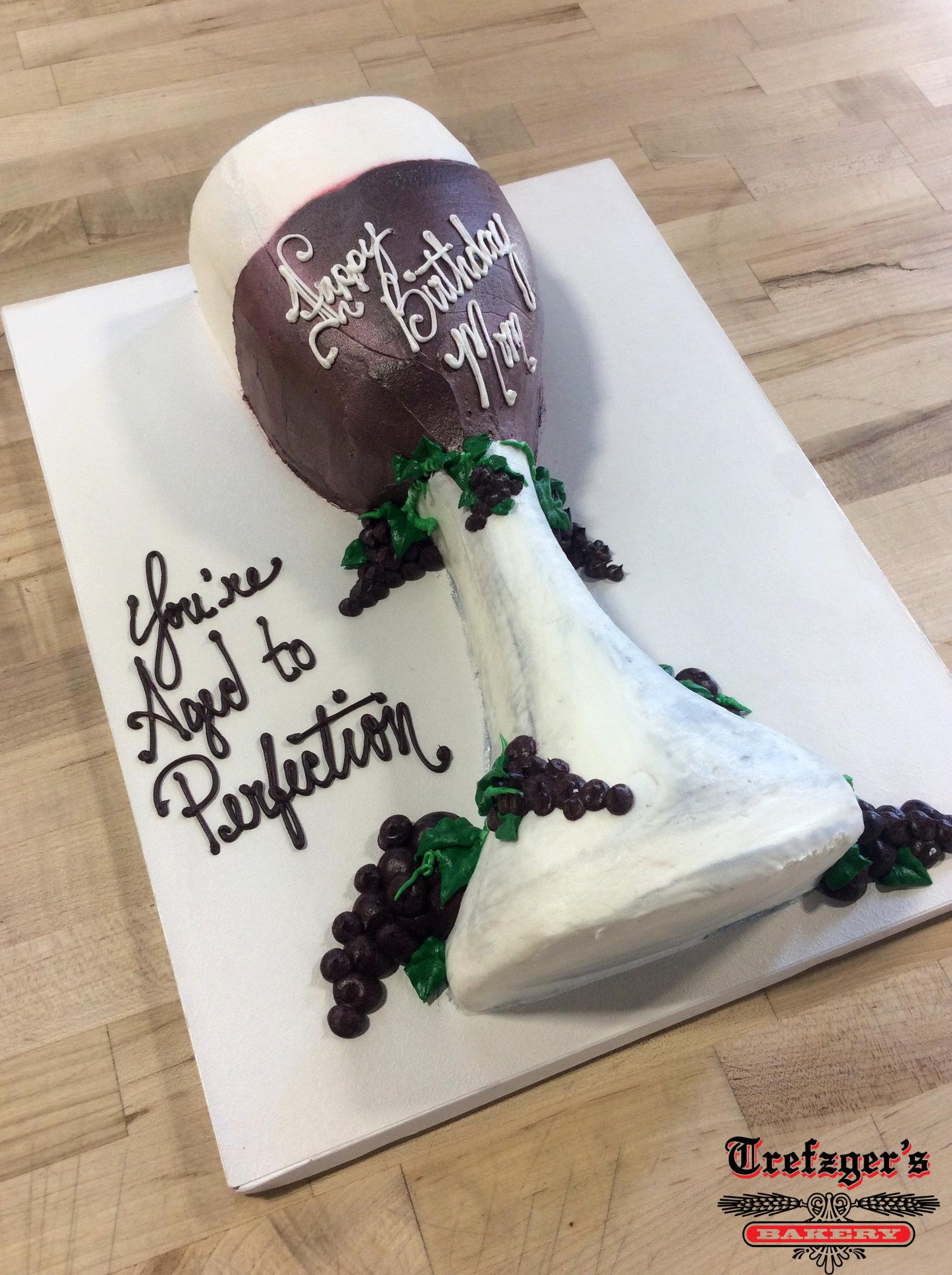 Wine Glass Shaped Cake Trefzgers Bakery
