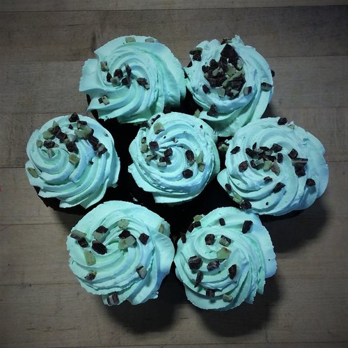 Andes Mint Dessert Cupcakes