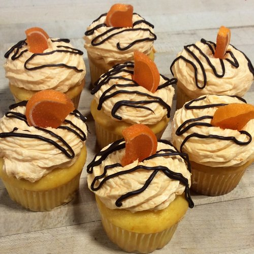 Chocolate Covered Orange Dessert Cupcakes (seasonal)