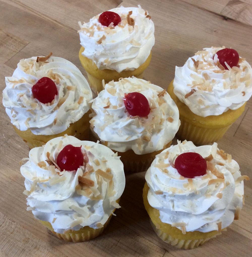 Pina Colada Dessert Cupcakes