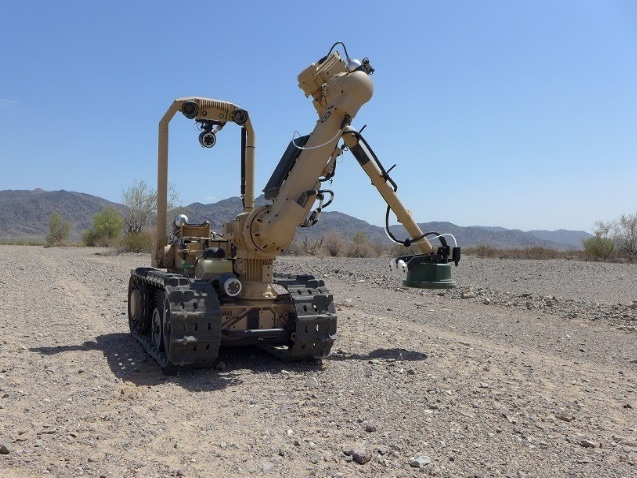 The Standoff Robotic Explosive Hazard Detection (SREHD) – Neutralization system keeps soldiers out of harms way
