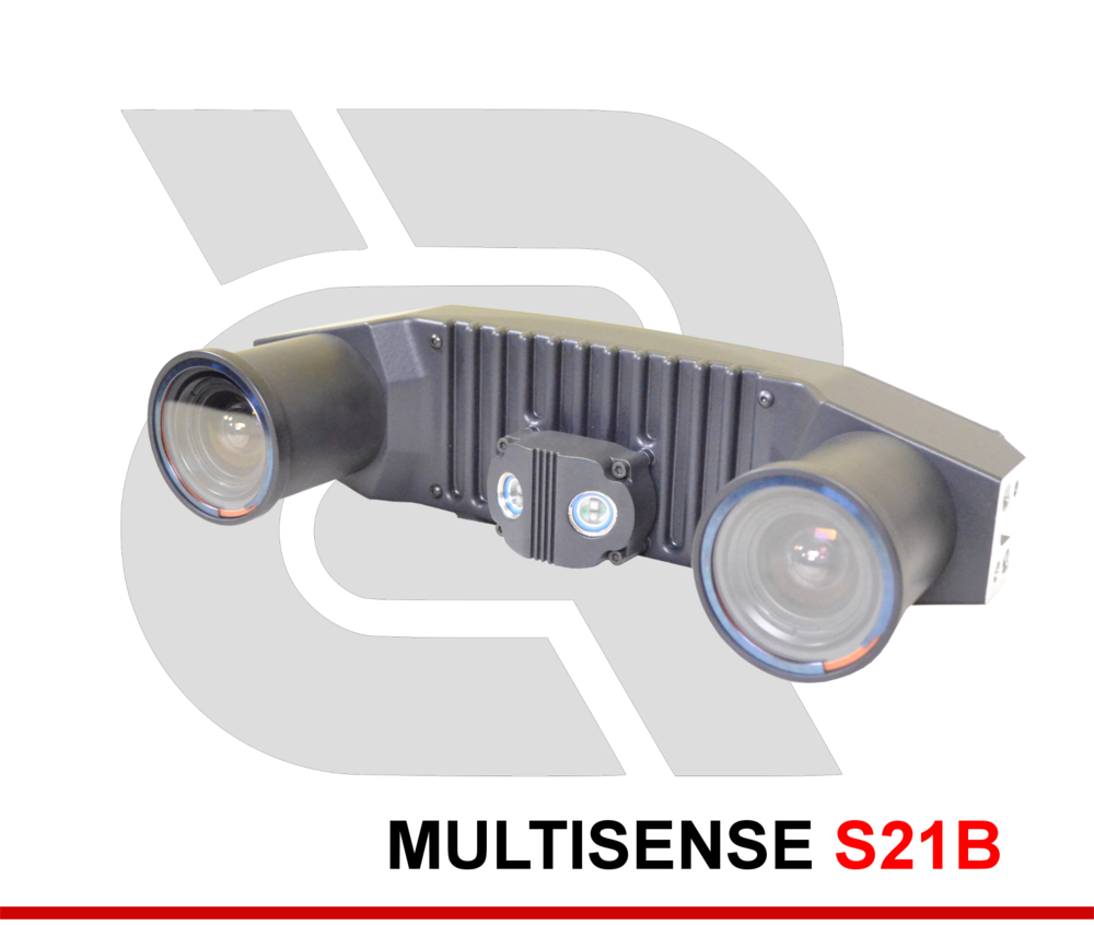 MULTISENSE S21B - Wide Baseline 3D Stereo and Video Sensor for Longer Range Applications. A Variety of Factory-Installed Lenses are Available.