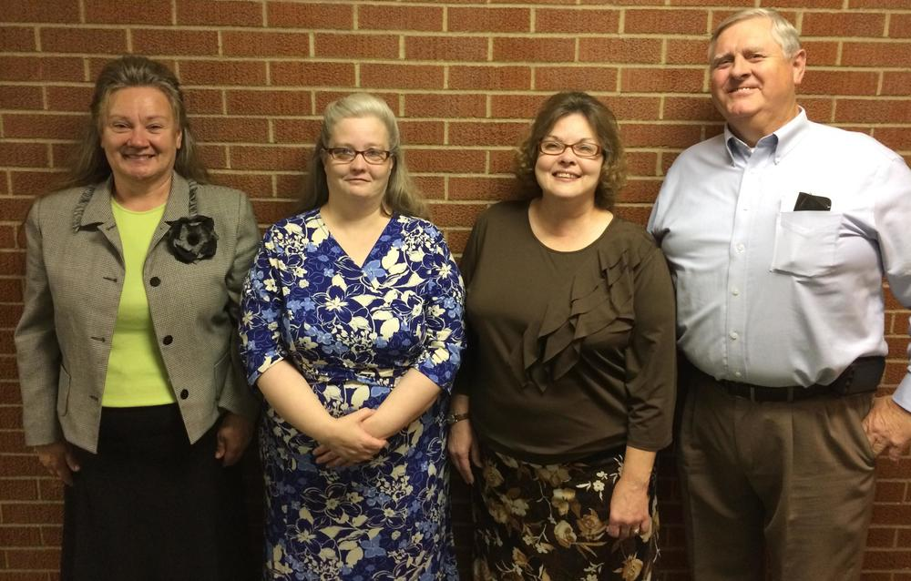 Our Bus Captains: Bonnie Bontrager, Lisa Whitacre, Laurie Jackson, and Bill Brimm
