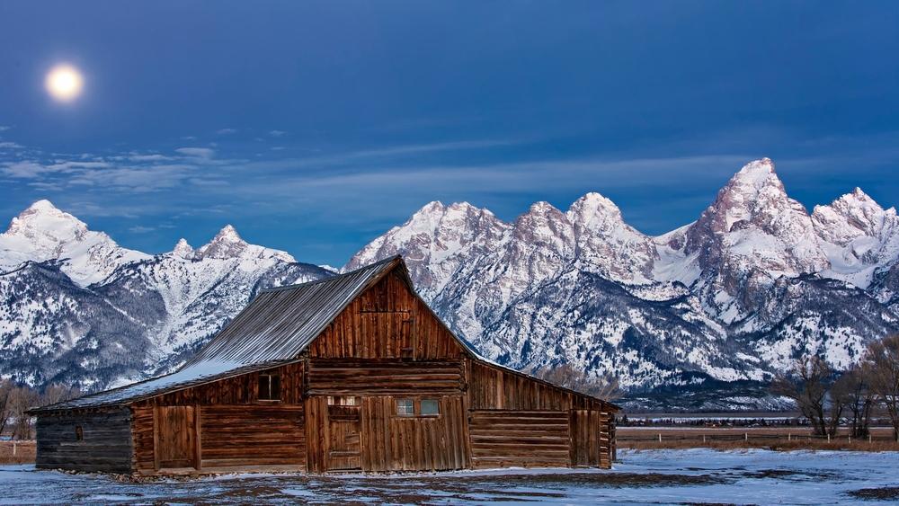 Mormon Row Barns - Grand Teton National Park - Night-X3.jpg