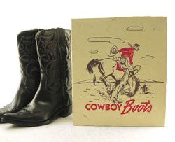 Vintage boots with original box