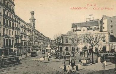 Cantonada Carrer Pelai amb Les Rambles