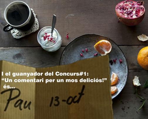 Pau i Appart810.com guanyadors del Concurs#1: Un comentari per un mos deliciós!