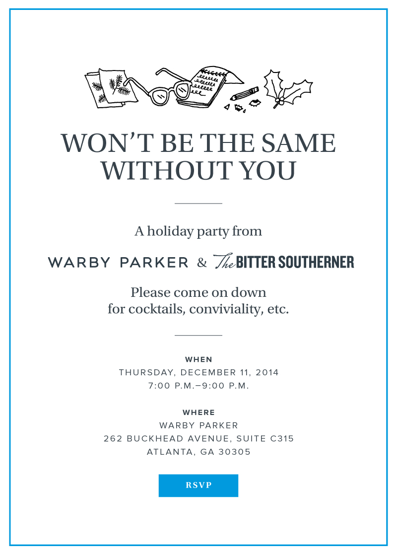 Warby Parker branded invite.
