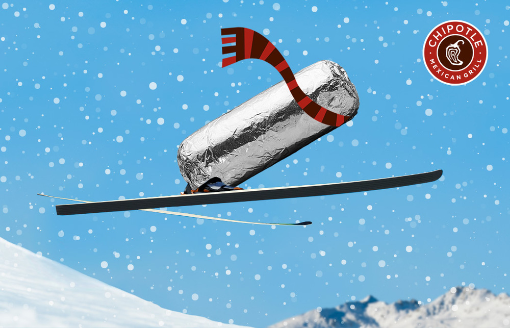 Burrito ski jump.