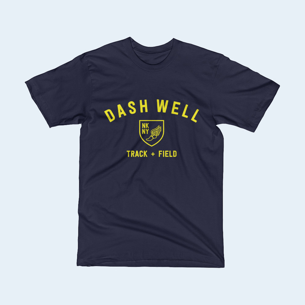 Dash Well Track + Field graphic t-shirt.