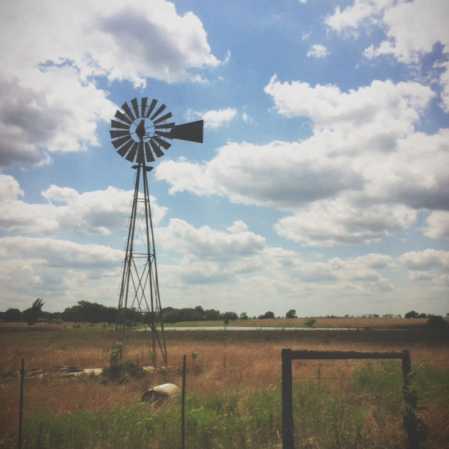 Quick iPhone shot near the exit to North Zulch, TX