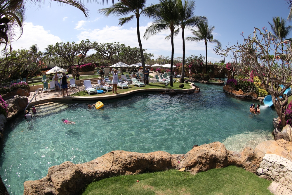 One of the pools at Grand Hyatt, Bali