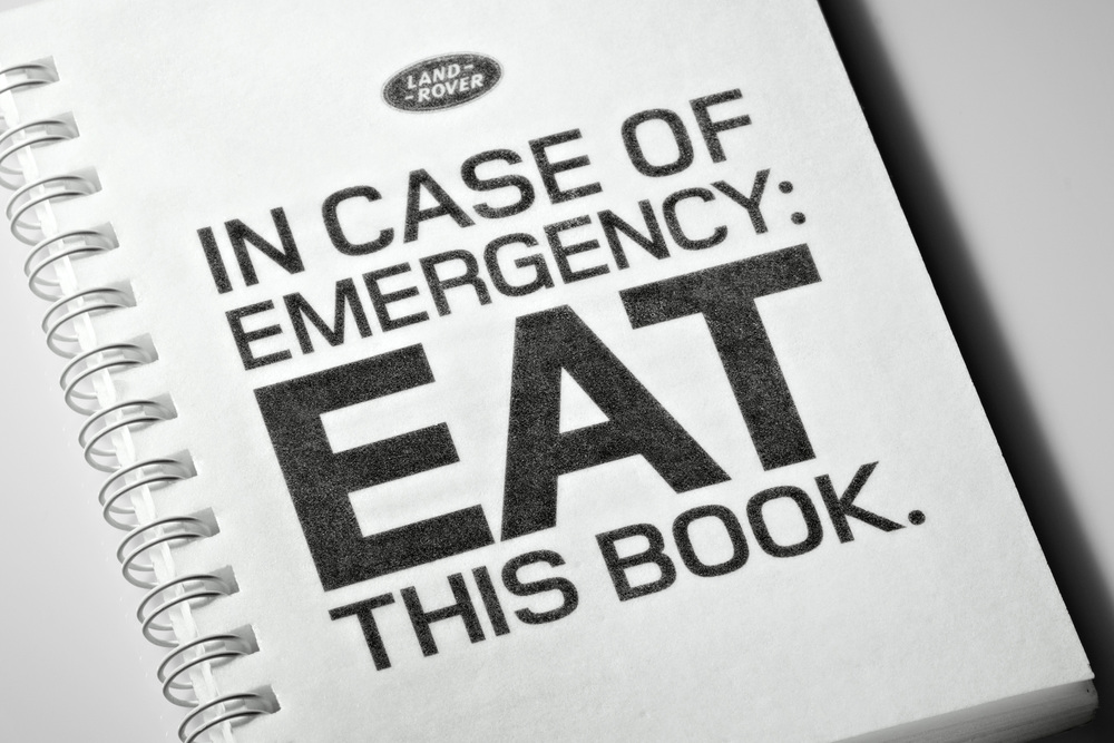 In Case of Emergency Eat This Book