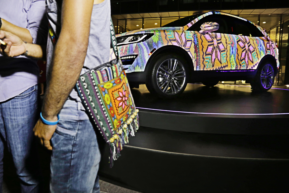 The Lincoln MKC matched their clothes instantaneously.