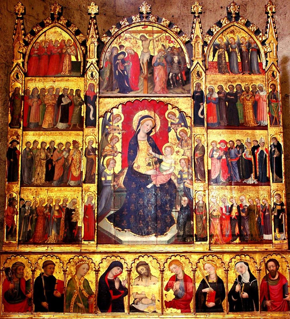 Retablo de Todos los Santos. Monasterio de Sant Cugat del Vallès, Barcelona. Año 1375.
