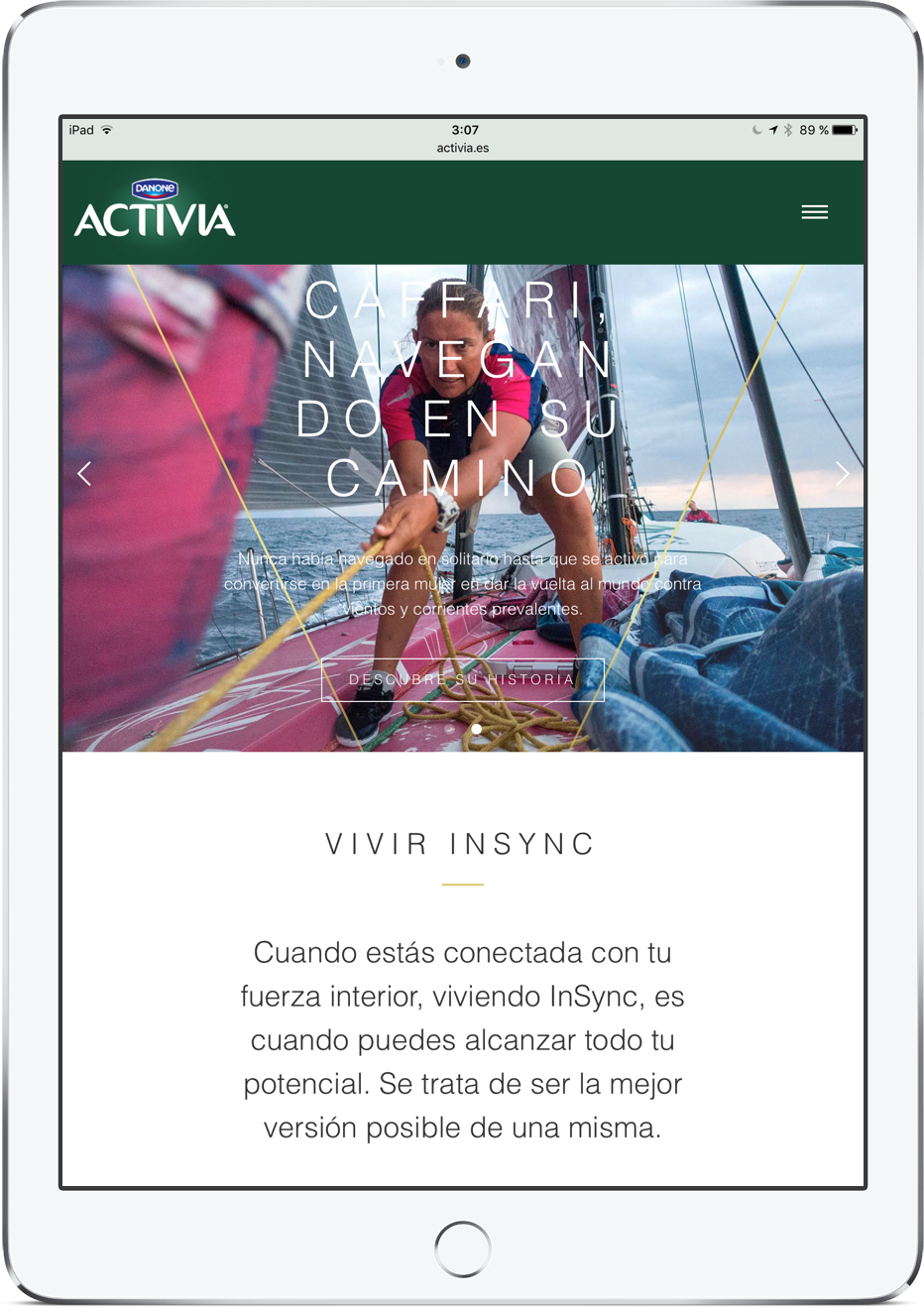 Activia website español