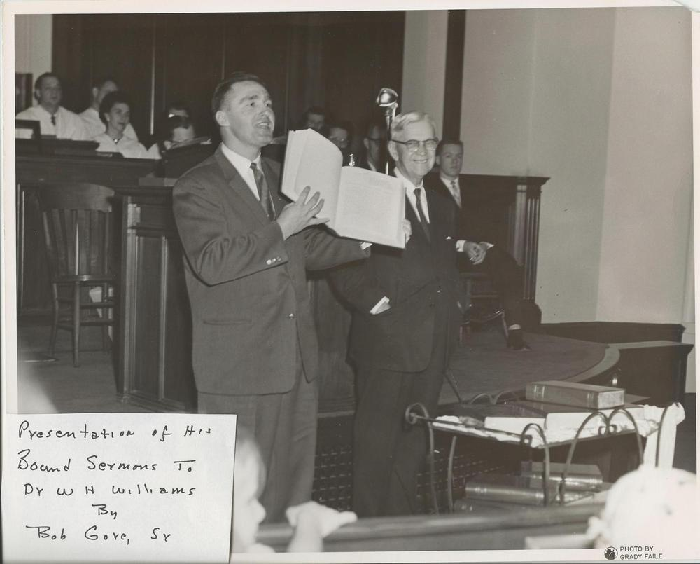 Bob+Gore+Sr.+presents+bound+sermons+to+Dr.+Williams+c.+late+1950's.jpg