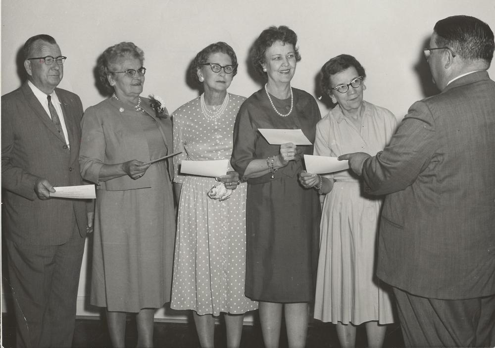 PMBC+training+union+award+4-19-1963,+Junie+Smith,+A+Mitchell,+Dot+Funderburk,+Blanche+Smith,+Edwards.jpg