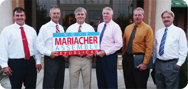 Elma Councilman James Malczewski, Councilman Michael P. Nolan, Supervisor Dennis M. Powers, Councilman Thomas Fallon and Councilman Tracy Petrocy officially endorse David Mariacher for New York State Assembly.