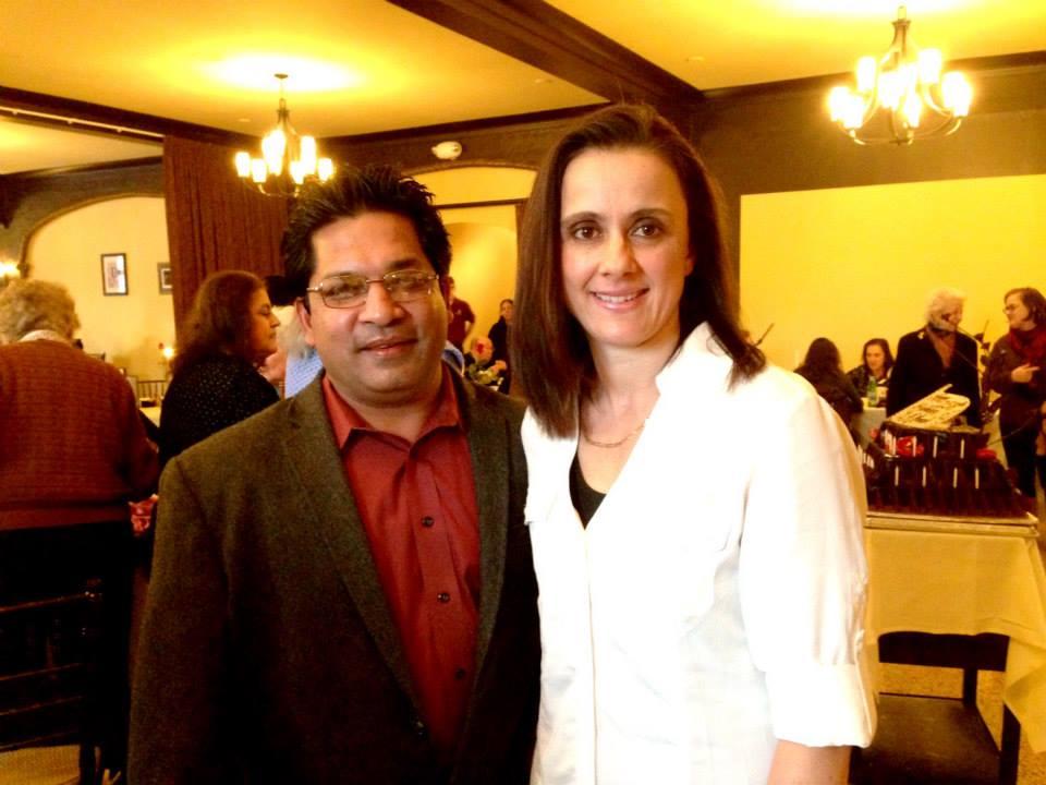 Anand and Doris Saha of Mozart's Bakery and Piano Cafe