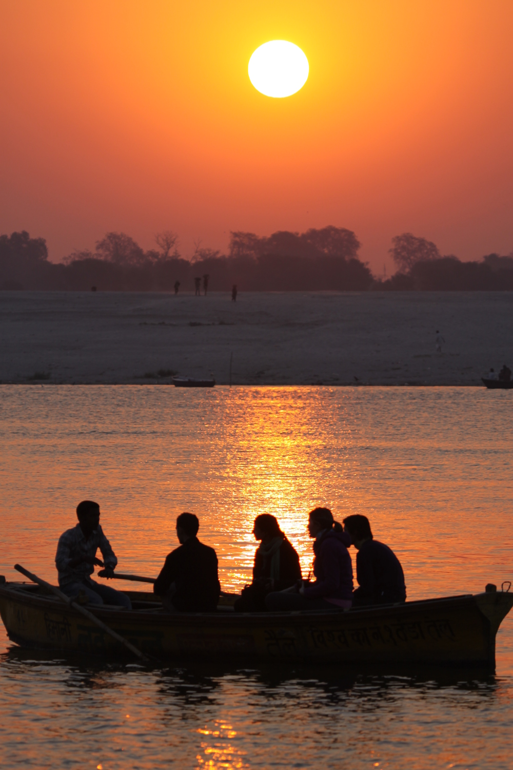Sunrise on Ganga river            Varanasi