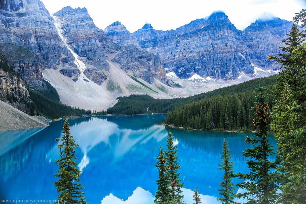 Lake Moraine Alberta Canada in the morning