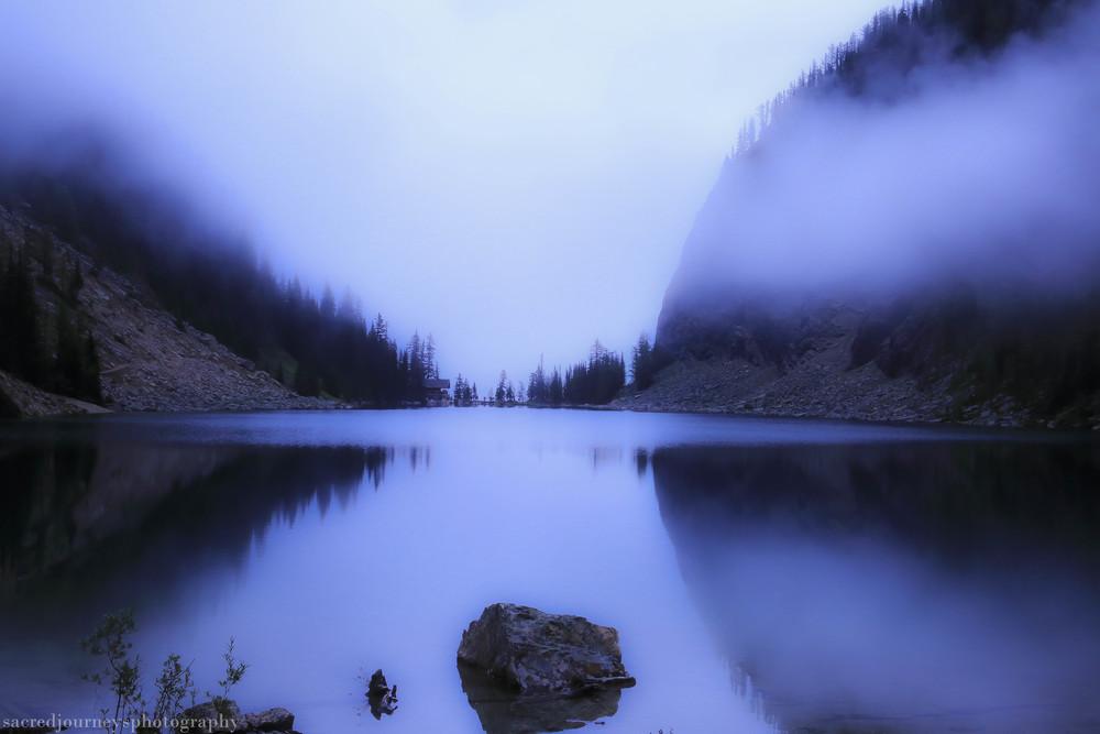 Lake Agnes Misty Morning Alberta Canada
