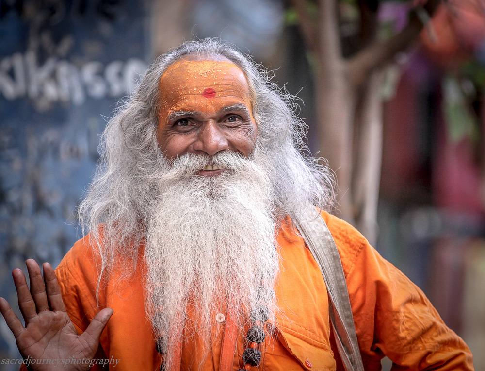 Happy Sadhu in Pushkar