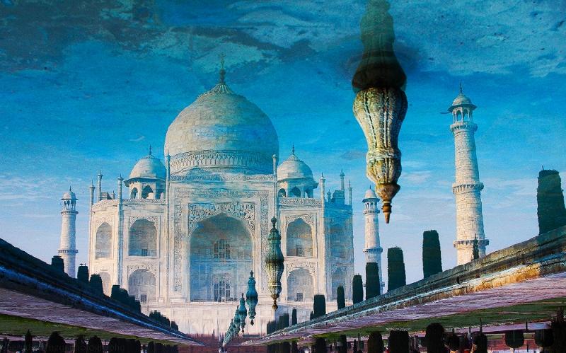 The Taj Mahal in the Reflecting Pool