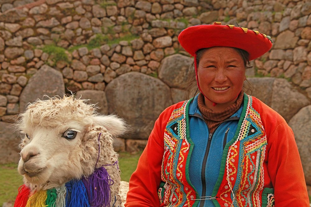 Peru W woman and lama.jpg