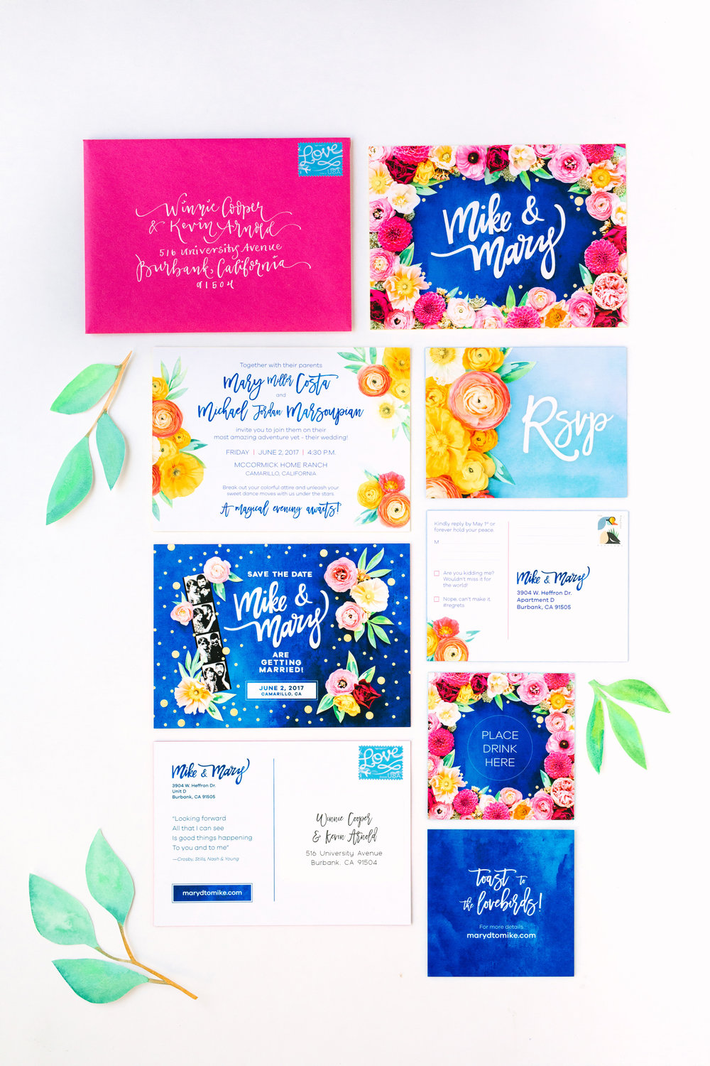 Mike and Mary Wedding Invitation Suite