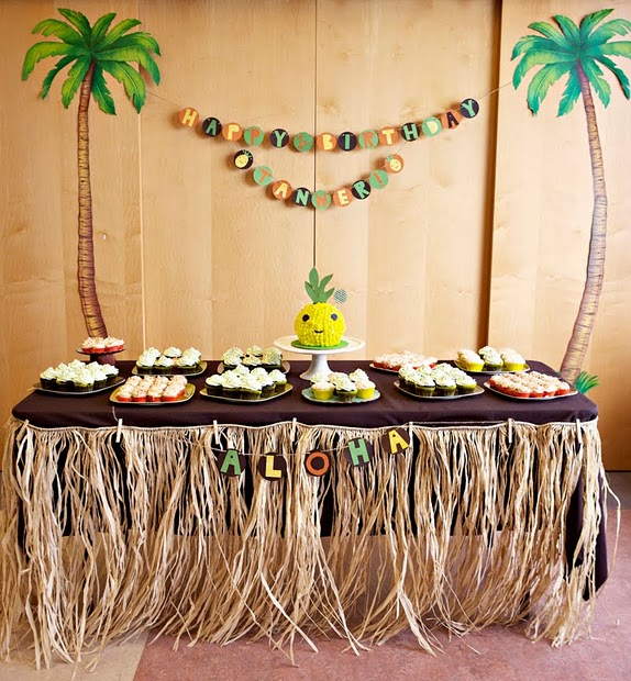 Hawaiian Luau Cake Decorating Ideas